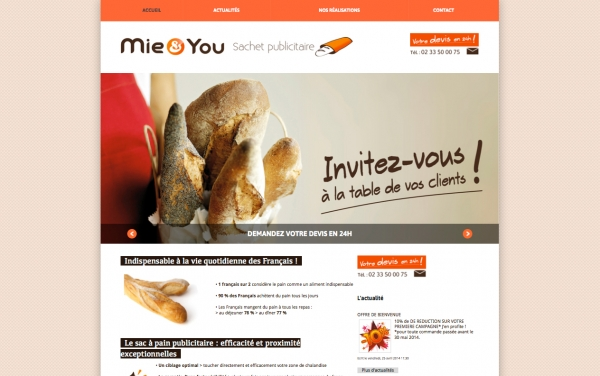 Site web Mie and You